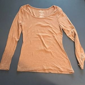 Women's Old Navy Long Sleeve T-Shirt - Tan Color